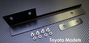 Black Front Bumper License Plate Relocator Bracket Holder JDM Bar for Toyota