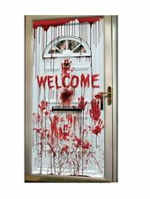 Halloween Door Topper Bloody Scary Decoration Horror Spooky Warning Red