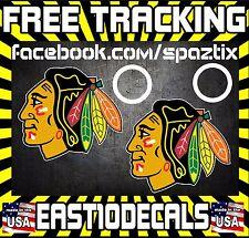 Chicago Blackhawks Cornhole Decal sticker 4 pc Set package deal!