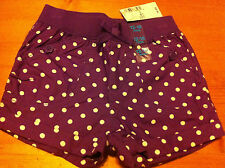 The Children's Place Shorts Purple w/ White Polka Dots 12-18 Months NWT