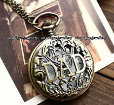 Dad Pocket Watch Vintage Xmas Present Gift For Him Men Daddy Father Son Keepsake