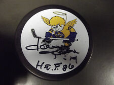 Dave Keon Auto Signed Mn Fighting Saints Hockey Puck.Only One On Ebay Mint