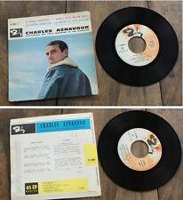 """CHARLES AZNAVOUR """" Il faut savoir """" Super 45 tr 4 titres Barclay . VG++1962"""