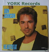 "DON JOHNSON - Heartbeat - Excellent Condition 7"" Single"