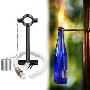 Tiki Torch Kit Wick for Oil Lamp Lantern Wine Bottle Holder Light Garden Decor