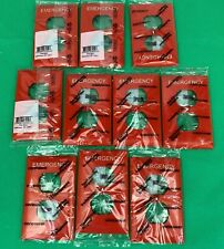 Lot of 10 Red  PASS & SEYMOUR Trademaster Emergency Outlet TP8-RED Wall Plate