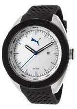 Puma Men's Silver Dial Analog Display Black Silicon Band PU103261005 Watch