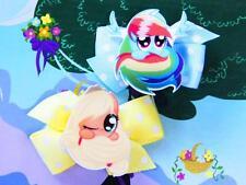 My Little Pony Rainbow Dash Applejack Inspired Handmade Hair Clips Doll Costume