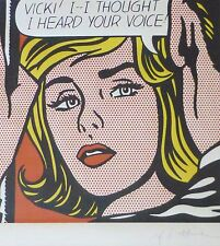 """ROY LICHTENSTEIN """"VICKI I..I tought"""" VICKY WITH MATTED PLATE SIGNED"""