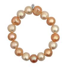 Bracelet prestige perles blanches, roses et pêches