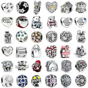 Charms Beads Crystal European Silver Bracelets Fit 925 Sterling Pendants Chain