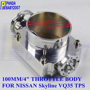 "4"" 100MM HIGH FLOW THROTTLE BODY FOR NISSAN SKYLINE VQ35 350Z Z33 TPS RACE SL"