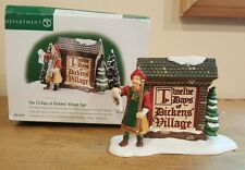 Department 56 The 12 Days of Dicken's Village Sign