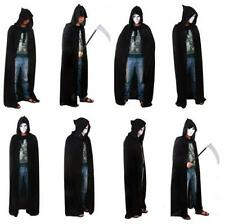 Gothic Hooded Cloak Wicca Robe Medieval Witchcraft Cape Halloween Fancy Dress BE