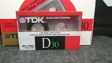 TDK D30 : 1988 : JAPAN/U.S.A : NEW & SEALED