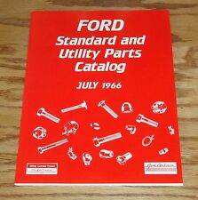 1966 Ford Standard & Utility Parts Catalog 66 Mustang Fairlane Torino Galaxie