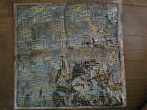 NWOT Marvel Comics Spider-Man 100% Silk Pocket Square Black & Gold pattern