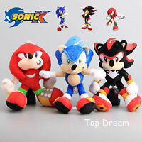 Game SONIC THE HEDGEHOG Shadow Hedgehog Knuckles the Echidna Plush Toy Doll 11''