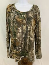 Under Armour Realtree Camo Long Sleeve Hunting Top Womens Large New with Tags
