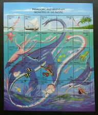 Palau Monsters Of Pacific 1993 Ocean Marine Dinosaur Fish Island (sheetlet) MNH