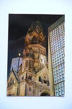 alte Ansichtskarte Berlin Kaiser-Wilhelm-Gedächtniskirche bei Nacht, 1985, neu
