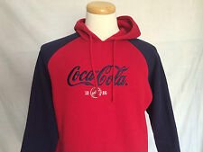 Coca-Cola Hoodie Sz 14W/16W Bottle Cap Embroidery Red Blue Long Sleeves Womens