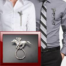 Race Horse Jockey PPE20 Pewter Pin Brooch Drop Hoop Holder Glasses,Pen,Jewellery