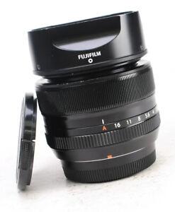 Fujifilm XF 35mm F1.4 Fujinon Aspherical Fuji X Mount Lens Both Caps & Hood EXC