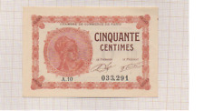 BILLET CHAMBRE DE COMMERCE DE PARIS 50 CENTIMES 1920 TTB+ FRANCE