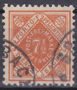 Altdeutschland / Württemberg Mi. Nr. 120 1916 7 1/2 Pf. Dienstmarken USED