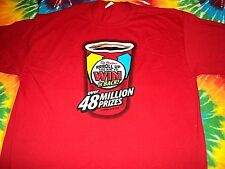 * TIM HORTON'S COFFEE Roll Up The Rim * NEW T Shirt L Double Sided STAFF Logo