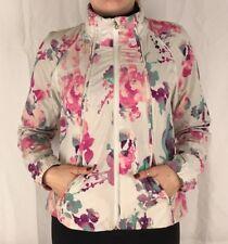 Lululemon Size 6 Travel to Track Jacket Blurred Blossoms White Coat Run Define