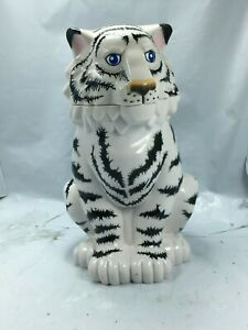 RINGLING BROTHERS CIRCUS WHITE SIBERIAN TIGER PLASTIC MUG CUP WITH FLIP LID F/S
