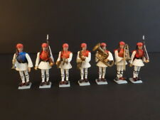 ALL ORIGINAL AOHNA 7 GREEK EVZONE SOLDIERS & MUSICIANS MINT CONDITION 1960