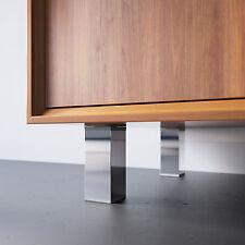 Zimmerheld Möbelfüße MFV1 Aluminium in Chrom Sockelfüße Schrankfüße verstellbar