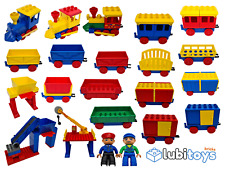 Lego® DUPLO Eisenbahn TRAIN Lokomotive Waggons Station Bahnhof MANUELL Zug