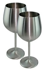 Stainless Steel Wine Glass -18/8 - Set of 2 - 18 oz - FREE SHIPPING!!!