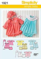 Simplicity Sewing Pattern 1921 Size XXS-L Babies Easy Dress Jacket Pants Hat