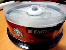 CD-R Recordable Blank Discs 80 min - 52x  EMTEC - Sealed Case - 25 pack