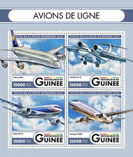 Guinea 2016 MNH Airliners Boeing Airbus Antonov 4v M/S Airplanes Aviation Stamps