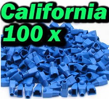 Lot 100 Pcs Blue Plug End Cap Boot Cable CAT5 CAT5E CAT6 RJ45 8P8C Connector set