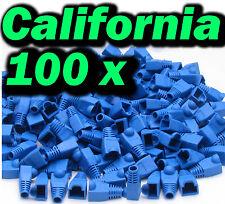 Lot 100 Pcs Blue Plug End Cap Boot Cable CAT5 CAT5E CAT6 RJ45 8P8C Connector set