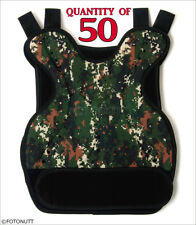 50 QTY DIGITAL Camo Body Armor Paintball /Airsoft CHEST PROTECTOR (ACU styled)