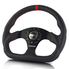 NEW JDM Black SPARCO Genuine Leather 320mm Racing Sport Steering Wheel with Horn