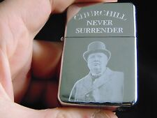 Winston Churchill Engraved Lighter with Gift Box - FREE ENGRAVING