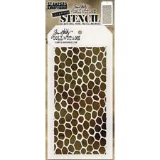 "Scrapbooking Crafts Tim Holtz Layered Stencil Bee Hive Honeycomb 4.125"" X 8.5"""