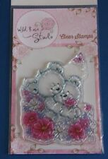 "Wild Rose Studio' Bear HUGS ""Transparente Sello cl485"