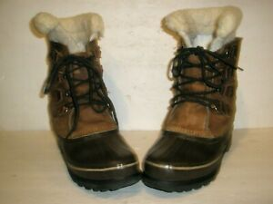 WOMENS SOREL ALPINE WATERPROOF INSULATED SNOW WINTER BOOTS SIZE 9