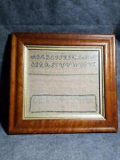 Antique NEEDLEWORK Sampler DATED 1820 BETSY ROSS B 1810 birds eye maple long s