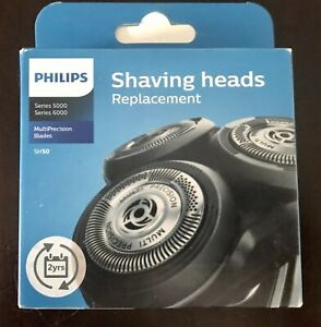 PHILIPS SERIES 5000 6000 SHAVING HEADS REPLACEMENT V-TRACK PRECISION  SH50